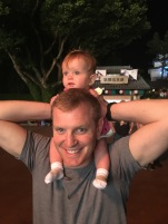 Brooklyn loved riding on daddy's shoulders to see the fireworks