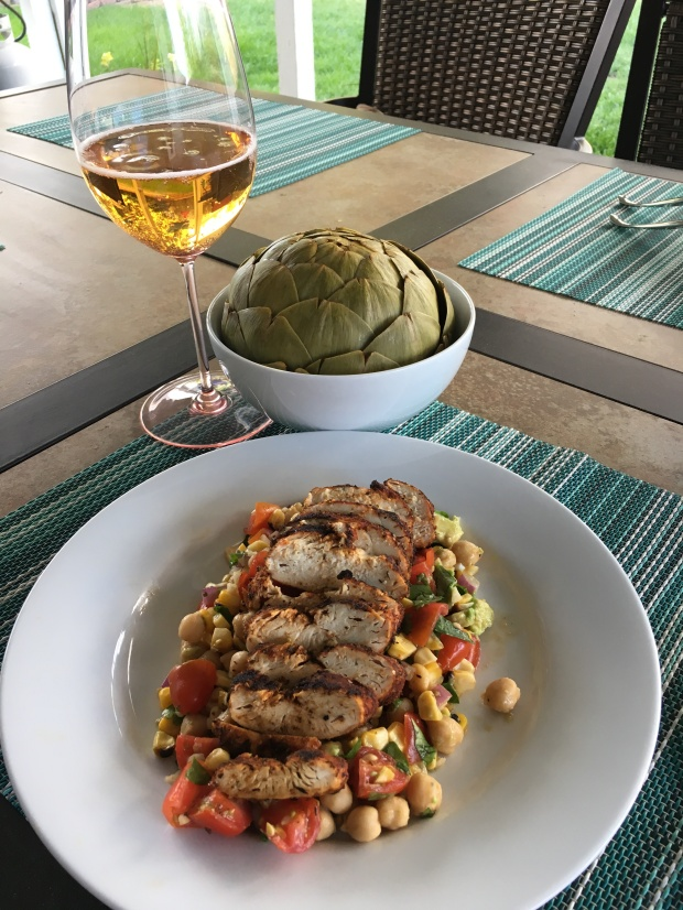 salad and artichoke
